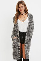 Forever 21 FOREVER 21+ Open-Front Marled Cardigan