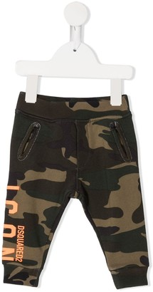 DSQUARED2 Logo Camouflage Print Track Pants