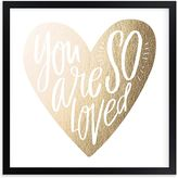 Pottery Barn Kids So Loved Heart Wall Art by Minted(R) 8x8