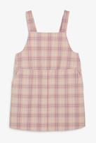 Monki Checked pinafore dress