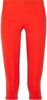 Theory Theory+ Tia cropped stretch-jersey leggings