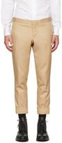 Thom Browne Khaki Denim Unconstructed Low-Rise Skinny Trousers