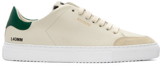 Axel Arigato Beige and Green Animal Triple Clean 90 Sneakers