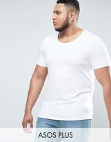 Asos PLUS Muscle T-Shirt With Scoop Neck In White