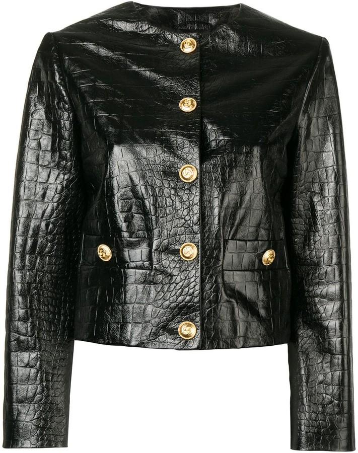 cd2cd89d3 Gucci Black Women's Leather Jackets - ShopStyle