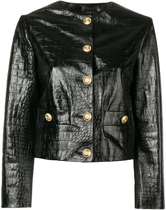 Gucci Textured Leather Jacket