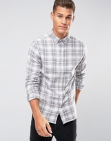 Selected Plus Shirt with Button Down Collar in Brushed Check