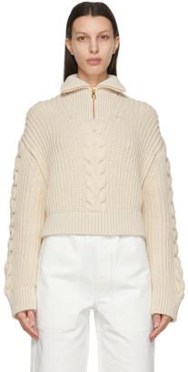 Nanushka Off-White Eria Zip-Up Sweater