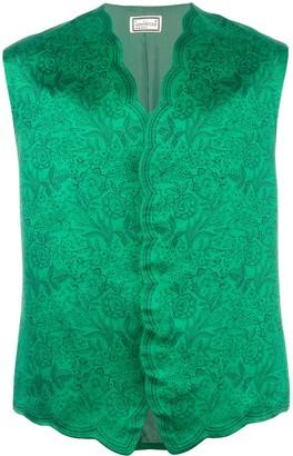 Versace Pre Owned Floral Print Vest