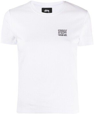 Stussy embroidered logo ribbed T-Shirt
