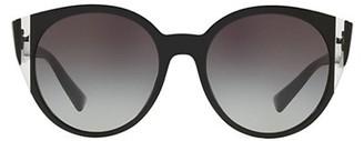 Valentino VA4038 Grad Blue 55MM Round Sunglasses