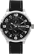 Versus By Versace 50mm Globe Oversized Chronograph Watch, Black