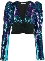 Amen cropped sequin blouse