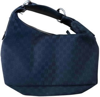 Gucci Hobo Black Cloth Handbags