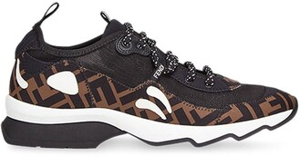 Fendi FF motif technical mesh sneakers