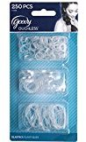 Goody Classics Polybands Hair Elastic, Multi 250 On Clear, 0.649 Ounce (Pack of 2)