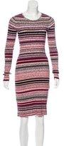 Tanya Taylor Rib Knit Sweater Dress