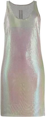 Rick Owens Sleeveless Sequined Short Dress