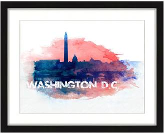 Vintage Print Gallery Washington Dc Skyline Framed Graphic Art