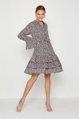 Coast Tiered Hem Animal Print Dress