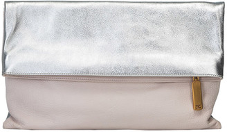 Fendi Bicolor Leather Fold-Over Clutch Bag