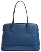 Kate Spade Young Lane - Marybeth Leather Tote With Removable Laptop Sleeve - Blue