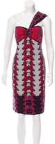 M Missoni Floral One-Shoulder Dress w/ Tags
