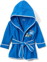 Sweet & Soft Blue Jungle Terry Cloth Robe - Infant