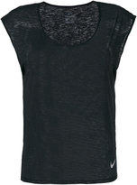 Nike scoop neck cap sleeve T-shirt - women - Polyester - S