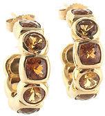 David Yurman 18kt Yellow Gold Citrine Peridot Hoop Earrings