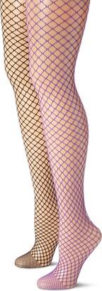 MUSIC LEGS Women's 2 Pack Diamond Net Pantyhose