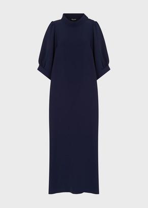 Giorgio Armani Silk Cady Long Dress