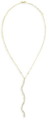 Lana Flawless 14K Yellow Gold & Diamond Oval Lariat Necklace