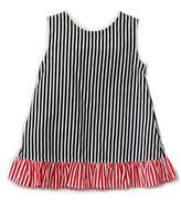 Frumpy Rumps Black/white Striped Dress