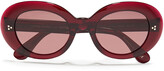 Thumbnail for your product : Oliver Peoples Erissa Oval-frame Acetate Sunglasses