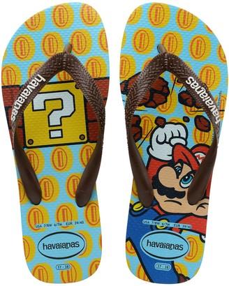 Havaianas Unisex Mario Bros Rubber Flip-Flops