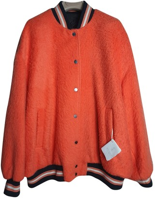 Brunello Cucinelli Orange Wool Coats