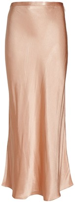 Shona Joy Wright Bias Satin Midi Skirt
