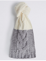 M&S Collection Cable Chenille Scarf