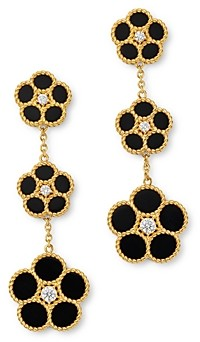 Roberto Coin 18K Yellow Gold Daisy Diamond & Black Onyx Drop Earrings - 100% Exclusive