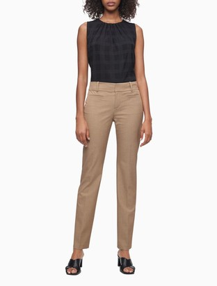 Calvin Klein Modern Essentials Solid Stretch Ankle Pants