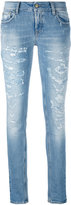 Cycle distressed skinny jeans - women - Cotton/Spandex/Elastane - 28