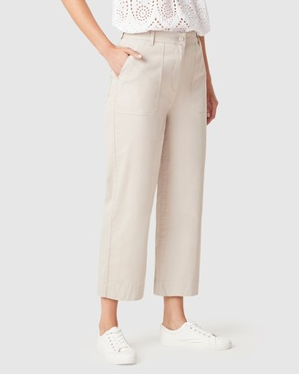French Connection Women's Pants - Cotton Utility Pants - Size One Size, 14 at The Iconic