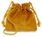 Clare Vivier Petite Henri Velvet Bucket Bag - Yellow