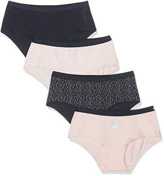 Dim Women's Boxer Pocket Coton X4 Swim Trunks,8 (Size: 36/38) (Pack of 4)