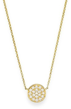 Bloomingdale's Diamond Pave Disk Pendant in 14K Yellow Gold, .25 ct. t.w.