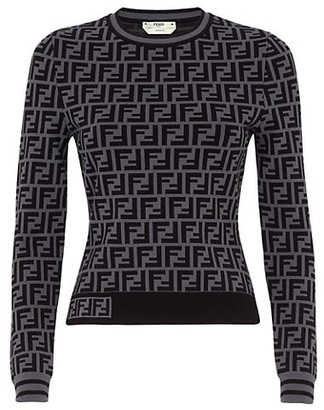 Fendi FF Knit Pullover Sweater