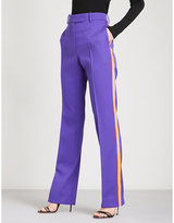 Calvin Klein Striped straight wool-twill trousers