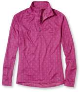 L.L. Bean Women's BeanSport Tops, Quarter-Zip Pullover Geo Print