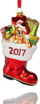 Holiday Lane Glass 2017 Toy Filled Santa Boot Ornament, Created for Macy's